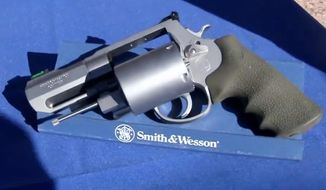 "Smith & Wesson unveiled their new .460 caliber revolver dubbed ""Backpack Cannon†last week."