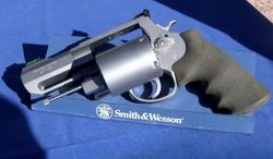 """Smith & Wesson unveiled their new .460 caliber revolver dubbed """"Backpack Cannon†last week."""