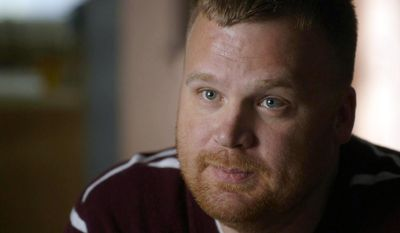 """This photo provided by the A&E Indie Films shows Matt Sandusky, the adopted son of former Penn State University assistant football coach Jerry Sandusky, in the documentary film, """"Happy Valley,"""" by director Amir Bar-Lev. (AP Photo/A&E Indie Films)"""