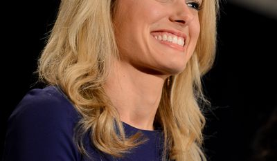 Conservative Activist Alison Howard is introduced as one of the GOP's rising stars at the Republican National Committee's annual winter meeting, Washington, D.C., Thursday, January 23, 2014. (Andrew Harnik/The Washington Times)