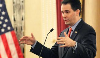 ** FILE ** Wisconsin Republican Gov. Scott Walker. (AP Photo/Milwaukee Journal Sentinel, Michael Sears)