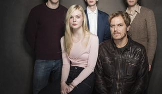 From left, Nicholas Hoult, Elle Fanning, Kodi Smit-McPhee, Michael Shannon, and Jake Paltrow pose for a portrait at The Collective and Gibson Lounge Powered by CEG, during the Sundance Film Festival, on Saturday, Jan. 18, 2014 in Park City, Utah. (Photo by Victoria Will/Invision/AP)