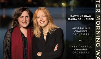 "This CD cover image released by ArtistShare shows ""Winter Storm Walks,"" by Dawn Upshaw and Maria Schneider. The CD ""Winter Morning Walks"" is nominated for three Grammys: Best Contemporary Classical Composition  (Maria Schneider), Best Classical Vocal Solo (Dawn Upshaw) and Best Engineered Album, Classical. (AP Photo/ArtistShare)"