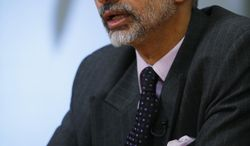 India's Ambassador to the United States, Dr. S. Jaishankar, gestures during an interviewed with The Associated Press in Washington, Friday, Jan. 24, 2014. (AP Photo/Charles Dharapak)