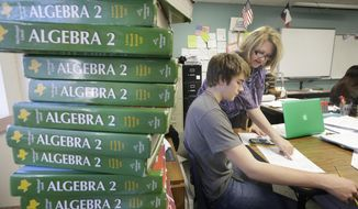 Texas is abandoning advanced-math mandates to give high school students more flexibility to focus on vocational training for well-paying jobs. (AP Photo/LM Otero)