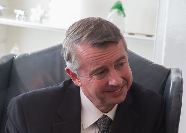 """""""I think voters will give me a chance to say, 'This is who I am, running for the first time to be in Congress,'"""" Ed Gillespie says. (Andrew S. Geraci/The Washington Times)"""