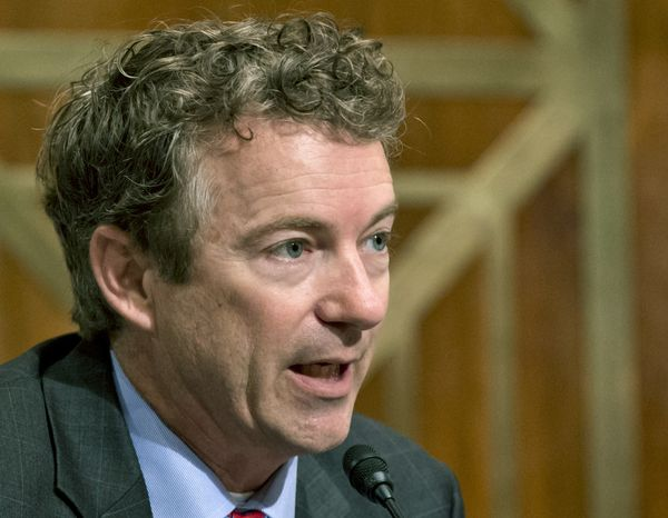 """** FILE ** In this Nov. 6, 2013, file photo, Sen. Rand Paul, R-Ky., speaks on Capitol Hill in Washington. Paul said Sunday, Jan. 26, 2014, on NBC's """"Meet the Press"""" that Democrats should remember President Clinton's sexual affair with White House intern Monica Lewinsky before turning their criticism to Republicans' attitudes toward women. (AP Photo/J. Scott Applewhite, File)"""