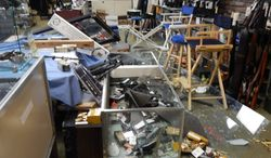 Thieves made off with at least $70,000 in weapons from AR Bunker gun shop in Newnan, Ga., on Sunday, Jan. 26, 2014. (AR Bunker: Facebook)