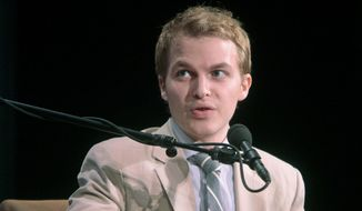 In this Sept. 22, 2011, file photo released by the United Nations Foundation, Ronan Farrow, Special Adviser to the Secretary of State for Global Youth Issues, speaks during the Social Good Summit in New York. (AP Photo/United Nations Foundation, Gary He, File)