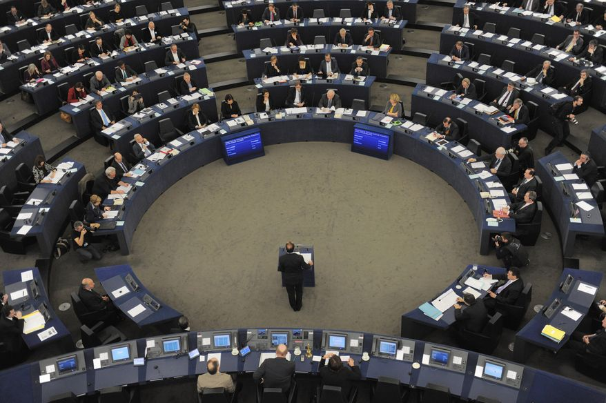 ** FILE ** In this Tuesday, Feb. 5, 2013, file photo, French President Francois Hollande delivers a speech at the European Parliament in Strasbourg, eastern France. (AP Photo/Christian Lutz, File)