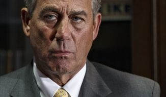 On the day of President Barack Obama's State of the Union address, House Speaker John Boehner of Ohio, meets with reporters at Republican National Committee headquarters in Washington, Tuesday, Jan. 28, 2014, after a GOP strategy session. (AP Photo/J. Scott Applewhite)