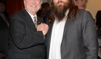 Texas Republican Rep. Steve Stockman posted this picture on his Twitter feed with 'Duck Dynasty' Willie Robertson.