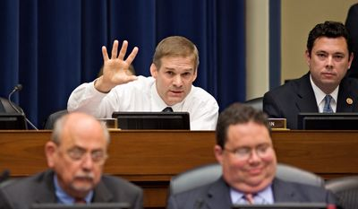 In a letter asking Barbara Bosserman, the lawyer involved in the IRS investigation, to testify at a hearing next week, Rep. Jim Jordan, Ohio Republican, expressed concern over Ms. Bosserman's history of financial and personal support for President Obama. (Associated Press)
