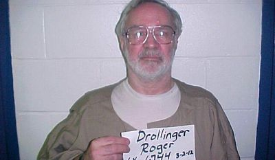 This photo provided by Wabash Valley Correctional Facility on Jan. 29, 2014, shows Roger Clay Drollinger, who died in the facility on Wednesday Jan. 29, 2014. Drollinger was found in his cell unresponsive as breakfast was being delivered around 6:45 this morning.   Drollinger was serving four life sentences for the February 14, 1977 shotgun slayings of Gregory Brooks, Ralph Spencer, Raymond Spencer and Reeve Spencer. (AP Photo/Wabash Valley Correctional Facility,)
