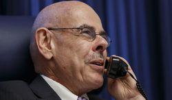 Rep. Henry Waxman, D-Calif. fields a flurry of phone calls in his Capitol Hill office in Washington, Thursday, Jan. 30, 2014, after he announced that he would retire after 40 years in the House of Representatives. Waxman, 74, has been a liberal force in the House, focusing on clean air issues, investigating the tobacco industry, expanding Medicaid and helping to write and enact the 2010 Affordable Care Act. (AP Photo)