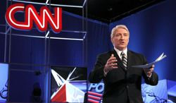 """FILE - This Feb. 22, 2012 file photo shows CNN's John King before the Republican presidential candidates debate in Mesa, Ariz. King will anchor the weekend political show """"Inside Politics,"""" premiering Feb. 2, 2014 at 8:30 a.m. EST on CNN. (AP Photo/Ross D. Franklin, File)"""
