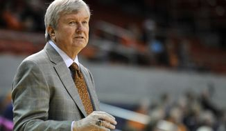 Texas A&M head coach Gary Blair on the sidelines during an NCAA college basketball game against Auburn, Thursday, Jan. 30, 2014, at Auburn Arena in Auburn, Ala. (AP Photo/AL.com, Julie Bennett)