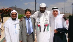 Malik Obama (second from right), brother of President Obama, attends the Orphans Development Fund Conference in Sanaa, Yemen, in 2010. (barackhobamafoundation.org)