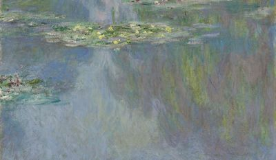 "In this image provided by Christie's auction house, Friday, Jan. 31, 2014 is ""Water Lilies"" by French impressionist painter Claude Monet. It is part of the Huguette Clark collection that is scheduled to be offered at auction May 6 in New York. (AP Photo/Christie's)"