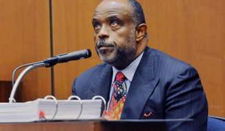 FILE - In this Thursday, Jan. 16, 2014, file photo, State Sen. Roderick Wright, D-Inglewood takes the stand during his perjury and voter fraud trial at Los Angeles Superior court. The state senator convicted of eight felonies this week introduced a bill that would have allowed those in similar circumstances to have their crimes reduced to misdemeanors. Wright apologized Friday Jan. 31, 2014, after he was rebuked by a spokesman for Senate President Pro Tem Darrell Steinberg, a fellow Democrat, and said he will not try to advance the bill through committee, effectively killing it. (AP Photo/The Daily Breeze, Stephen Carr, File) MAGS OUT; NO SALES