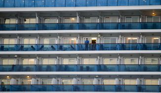 Passengers and crew aboard a Caribbean Princess cruise ship have contracted the norovirus. (AP Photo/Houston Chronicle, Cody Duty) ** FILE **