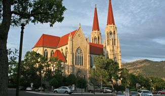 ** FILE ** This 2011 file photo provided by Ron Zellar, shows the Cathedral of St. Helena in Helena, Mont. The Roman Catholic Diocese of Helena filed for bankruptcy protection Friday Jan. 31, 2014, in advance of proposed settlements for two lawsuits that claim clergy members sexually abused 362 people over decades and the church covered it up. (AP Photo/Ron Zellar,File)