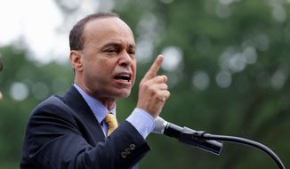 "** FILE ** Rep. Luis Gutierrez, D-Ill, speaks during a ""United we Dream"" rally on Capitol Hill, Wednesday, July 10, 2013, in Washington. (AP Photo/Alex Brandon)"