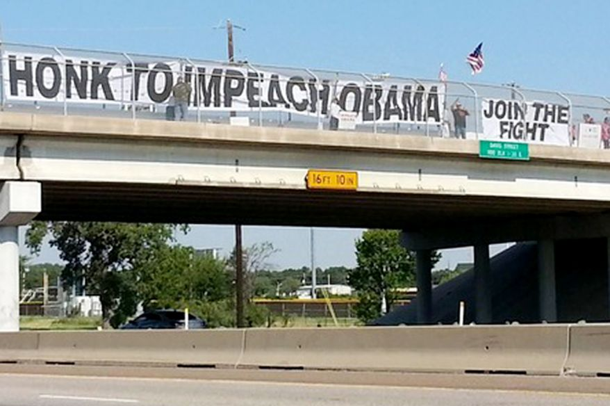 Campbell Wisconsin bans protest banners on highway overpasses.
