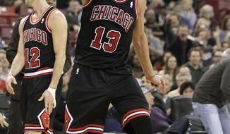 Chicago Bulls center Joakim Noah shouts after getting his second technical foul and was ejected from the game in the third quarter against the Sacramento Kings in a NBA basketball game in Sacramento, Calif., Monday, Feb. 3, 2014. The Kings won 99-70. (AP Photo/Rich Pedroncelli)
