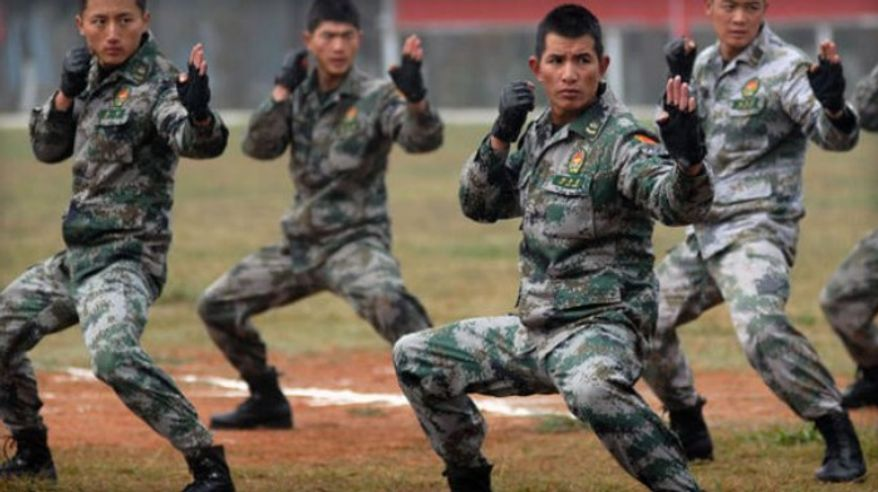 Chinese soldiers in training November, 2010. (Associated Press) ** FILE **