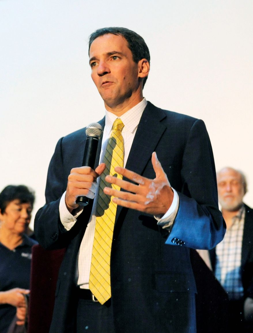 Democrat Andrew Romanoff has raised more than his Republican rival, three-term incumbent Rep. Mike Coffman, in Colorado. (ASSOCIATED PRESS)