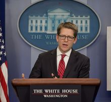 White House spokesman Jay Carney says the Affordable Care Act is benefiting the economy and giving choice to Americans. (Associated Press)