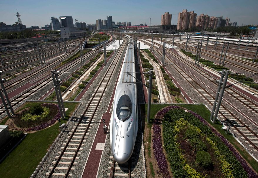 China's high-speed rail network is becoming a major mode of transport for the Chinese army, allowing the rapid movement of troops, according to a report. (ASSOCIATED PRESS)