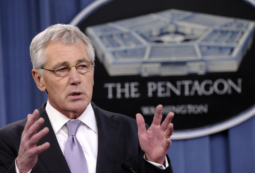 ** FILE ** In this Jan. 24, 2014, file photo, Defense Secretary Chuck Hagel speaks at the Pentagon in Washington. Hagel is ordering military leaders to put a renewed emphasis on moral behavior across the force following a series of ethical lapses that have included cheating scandals among the Navy and Air Force's nuclear missions. (AP Photo/Susan Walsh, File)