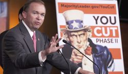 **FILE** Rep. Mick Mulvaney, R-S.C. gestures during a news conference on Capitol Hill in Washington, Wednesday, May 11, 2011, to discuss the budget. (AP Photo/Harry Hamburg)