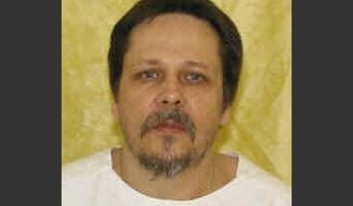 FILE - This undated file photo provided by the Ohio Department of Rehabilitation and Correction shows inmate Dennis McGuire. Initial reviews of an execution in which McGuire repeatedly gasped found no reason to change the way Ohio puts condemned prisoners to death.  The reviews, required by prison rules, found that the state execution policy was followed, and execution and medical team members did what they were supposed to.(AP Photo/Ohio Department of Rehabilitation and Correction, File)