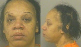 This photo provided by Calhoun County Sheriff Department, Cheryl White is shown.  White, 50,  of Battle Creek, Mich.,  is charged with assault with intent to murder. Police say she stabbed 63-year-old Thomas Blige in the neck, arm and side on Jan. 23 outside his Battle Creek apartment. He's hospitalized and police say he's expected to recover. Police say Blige was attacked while confronting White, who was deflating his vehicle tires.   White is being held on $500,000 bond. Thomas Blige is the father of singer Mary J. Blige.   (AP Photo/Calhoun County Sheriff Department)