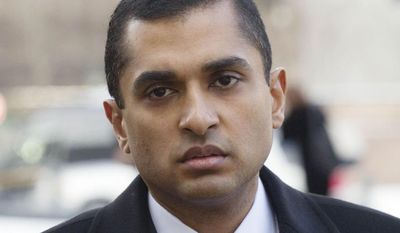 Mathew Martoma, a former SAC Capital portfolio manager, arrives at federal court, Thursday, Feb. 6, 2014 in New York. The former SAC Capital Advisors portfolio manager was convicted Thursday of helping his company earn more than a quarter billion dollars illegally through trades based on secrets about the testing of a potential breakthrough Alzheimer's drug. (AP Photo/Mark Lennihan)