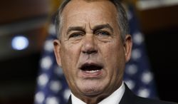 House Speaker John Boehner of Ohio speaks during a news conference on Capitol Hill in Washington, Thursday, Feb. 6, 2014. Boehner said Thursday it will be difficult to pass immigration legislation this year, dimming prospects for one of President Barack Obama's top domestic priorities.  (AP Photo/J. Scott Applewhite)