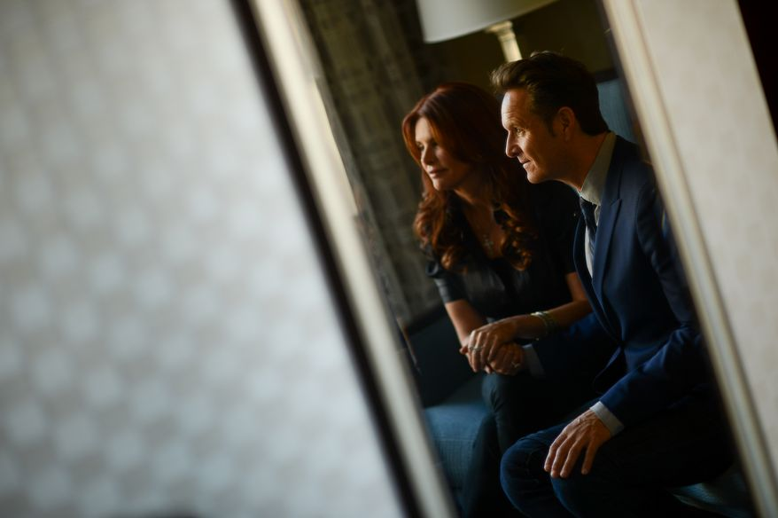 Mark Burnett and Roma Downey are interviewed by the Washington Times about their movie Son of God, Washington, D.C., Thursday, February 6, 2014. (Andrew Harnik/The Washington Times)