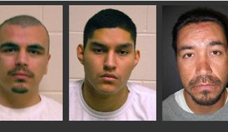 Undated photos provided by the Nebraska Department of Corrections show inmates, from the left, Eric Ramirez, Juan Castaneda and Douglas Mantich. On Friday, Feb. 7, 2014, The Nebraska Supreme Court on Friday, Feb. 7, 2014 vacated the sentences of the three men ordered imprisoned for life without parole when they were teenagers, citing a 2012 U.S. Supreme Court ruling striking down such sentences. The rulings came in the separate appeals of Douglas Mantich, 37, who was sentenced for his role in a 1993 shooting death in Omaha, and Eric Ramirez, 22, and Juan Castaneda, 21, both sentenced for their roles in a 2008 Omaha shooting rampage that left two dead and one injured. The court ordered the three to be resentenced. (AP Photo/Nebraska Department of Corrections)