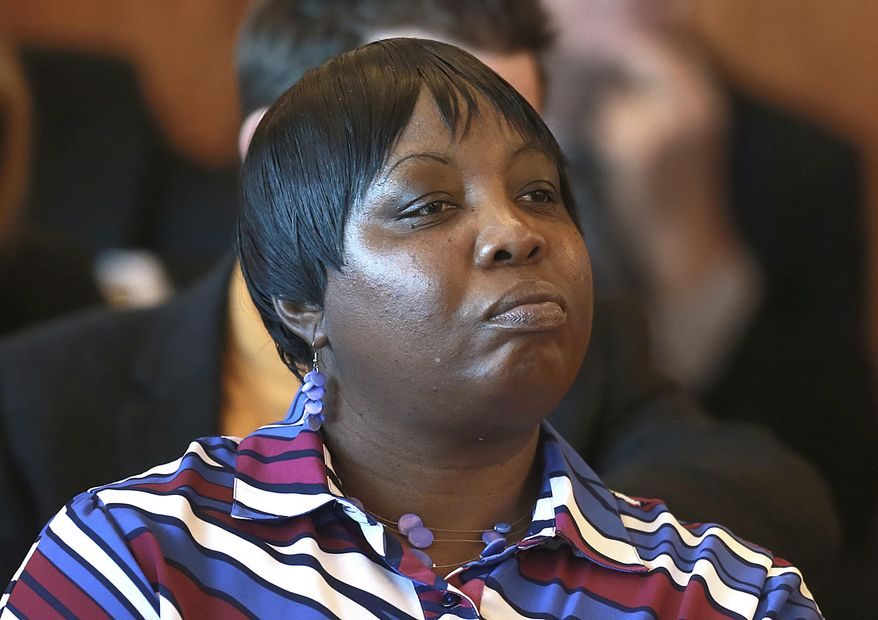 Ursula Ward, mother of of Odin Lloyd, attends a hearing for former New England Patriots football player Aaron Hernandez at Bristol Superior Court on Friday, Feb. 7, 2014, in Fall River, Mass. The ex-NFL player has pleaded not guilty to murder in the killing of Lloyd, a 27-year-old Boston semi-professional football player who was found dead June 17 near Hernandez's North Attleborough home. At the hearing, the judge rejected a request by prosecutors for Hernandez's jailhouse phone recordings, then ordered them to turn over to the defense copies of calls they acknowledged already having. (AP Photo/The Boston Globe, Jonathan Wiggs, Pool)