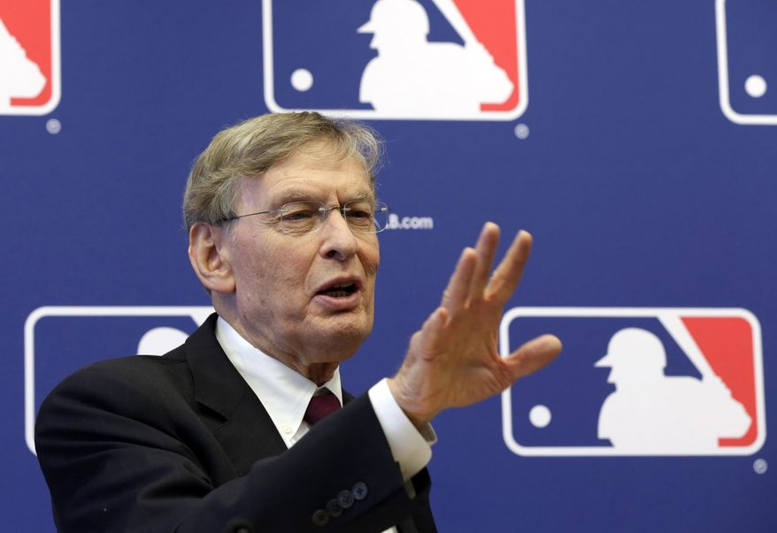 In this May 16, 2013, photo, baseball Commissioner Bud Selig answers a question during a news conference at Major League Baseball headquarters in New York. Alex Rodriguez has accepted his season-long suspension from Major League Baseball, the longest penalty in the sport's history related to performance-enhancing drugs. Rodriguez withdrew his lawsuits against Major League Baseball, Selig and the players' association to overturn his season-long suspension on Friday, Feb. 7, 2014. The notices of dismissal were filed in federal court in Manhattan. (AP Photo/Richard Drew)