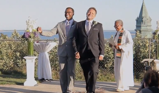 A new Chevrolet ad unveiled for the Winter Olympics features images of a gay couple getting married. (Screengrab)