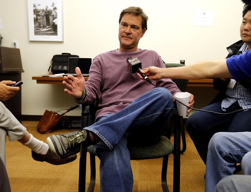 Los Angeles Dodgers manager Don Mattingly speaks to reporters, Saturday, Feb. 8, 2014, in Glendale, Ariz. The Dodgers first spring training baseball practice begins Sunday. (AP Photo/Matt York)