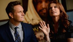 """Visionaries: Mark Burnett and Roma Downey say they had already started working on """"Son of God"""" when their TV miniseries """"The Bible"""" was bringing millions of TV viewers to the History Channel. Their film is slated to be released Feb. 28. (Andrew Harnik/The Washington Times)"""
