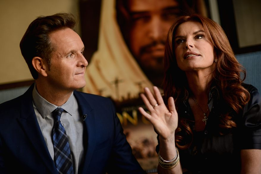 "Visionaries: Mark Burnett and Roma Downey say they had already started working on ""Son of God"" when their TV miniseries ""The Bible"" was bringing millions of TV viewers to the History Channel. Their film is slated to be released Feb. 28. (Andrew Harnik/The Washington Times)"