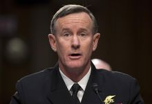 FILE - In this March 5, 2013, file photo, Navy Adm. William McRaven, commander, U.S. Special Operations Command, testifies on Capitol Hill in Washington. A newly-released email shows that 11 days after the killing of terror leader Osama bin Laden in 2011, McRaven ordered subordinates to destroy any photographs of the al-Qaida founder's corpse or turn them over to the CIA. (AP Photo/Evan Vucci, File)
