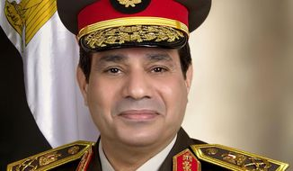 In this undated image released on the official Facebook page of the Egyptian Military Spokesman of the Armed Forces, Egyptian army chief Field Marshal Abdel-Fattah el-Sissi poses for a portrait in Cairo, Egypt. (AP Photo/The Official Facebook Page of the Egyptian Military Spokesman of the Armed Forces)