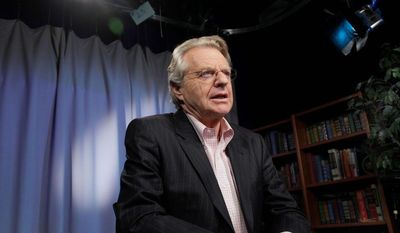 """""""The only difference between the people in Congress and the people on my show is the people in Congress have more teeth,"""" said talk show host Jerry Springer. (ASSOCIATED PRESS)"""